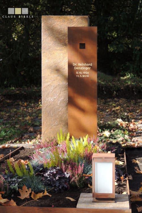 Grabstein Corten-Stele