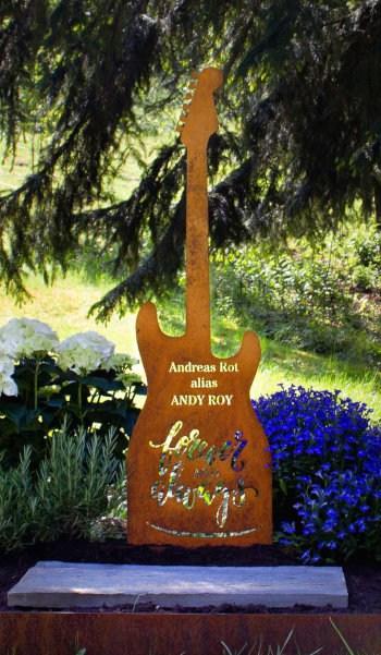 Grabstein Gitarre
